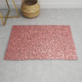Blush Gold Rose Pink Shimmery Glitter Rug