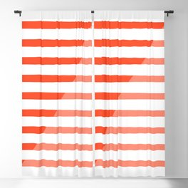 Beach Stripes Red Pink Blackout Curtain