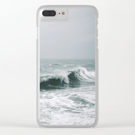Waves III Clear iPhone Case