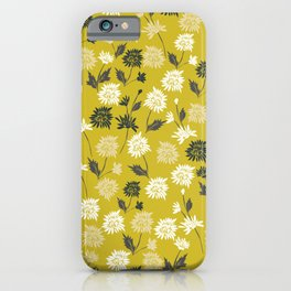 Chinoiserie pattern with flowers iPhone Case