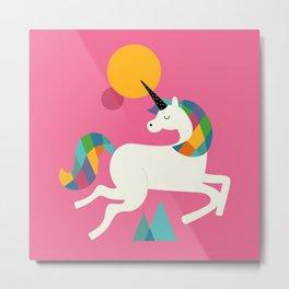 Unicorn Rainbow Magic LGBT QUEER Metal Print