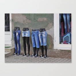 Mannequins in Dracula's City Canvas Print