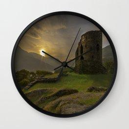 Dolbadarn Castle Sunrise Wall Clock