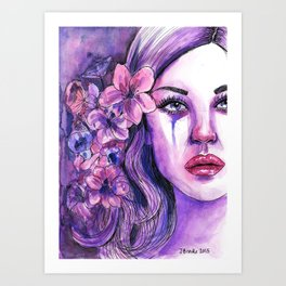 'Letting Go - Watercolour Painting Art Print
