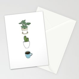 Plants Cactus & Coffee Stationery Cards