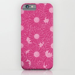 Daisy Hot Pink iPhone Case