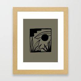 BAJA KHAKI Framed Art Print