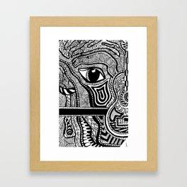 Face in Space Framed Art Print