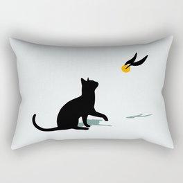 Cat and Snitch Rectangular Pillow