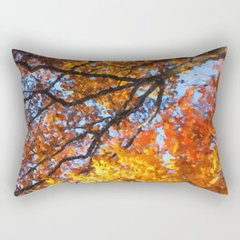 Autumnal colors in forest Rectangular Pillow