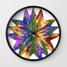 vectors colorful prismatic chromatic Wall Clock