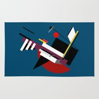 kandinsky Area & Throw Rugs featuring STARSHIP by THE USUAL DESIGNERS