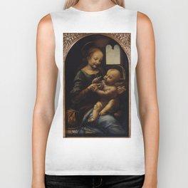 """Leonardo da Vinci """"Madonna and the Child (The Benois Madonna)"""" Biker Tank"""