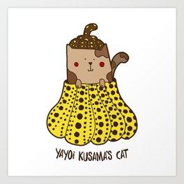 Yayoi Kusama's cat Art Print