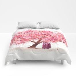 Tardis Tree Art Blossom Comforters