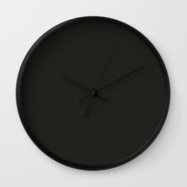Colors of Autumn Charcoal Gray Solid Color Wall Clock
