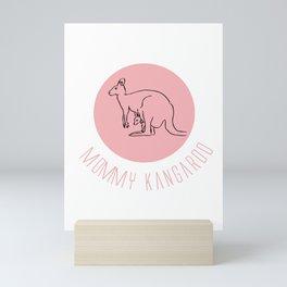 Mommy Kangaroo, Gift For Mom Mini Art Print