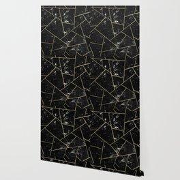 Black Marble Gold Geometric Glam #1 #geo #decor #art #society6 Wallpaper