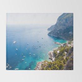 Capri, bay of Naples, Italy Throw Blanket