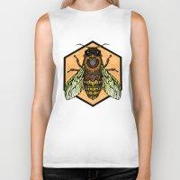 bee Biker Tanks featuring Bee by Graham Diehl