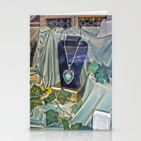 shopping Stationery Cards featuring Window Shopping by Frankie Cat