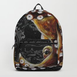 Octopus Vintage Map Colored Pencil Nautical Backpack