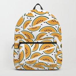 Yellow watermelon pattern art Backpack