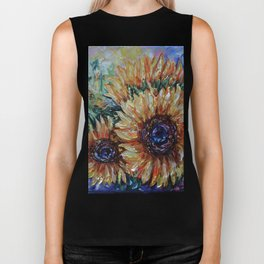 Ah, Sunflower by Lena Owens Biker Tank