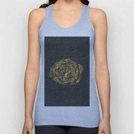 Golden Rose on Textured Canvas Unisex Tank Top