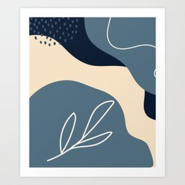 NATURE ABSTRACT ART Art Print
