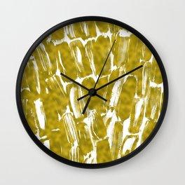 Gold Sugarcane Wall Clock