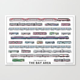 The Transit of the Bay Area (small) Canvas Print