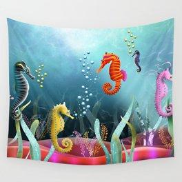 Sea Horse Ranch Wall Tapestry