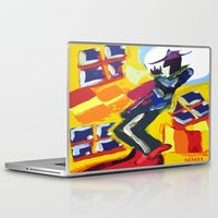 trumpet Laptop & iPad Skins featuring Trumpet Man by Myles Hunt