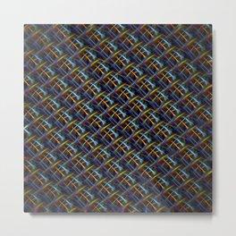 Fluro Fiber Metal Print
