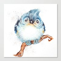 baby Canvas Prints featuring Baby titmouse by Patrizia Ambrosini