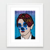 david bowie Framed Art Prints featuring David Bowie by Arnaud Pagès