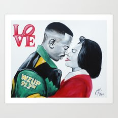 Black Love - Martin & Gina Art Print