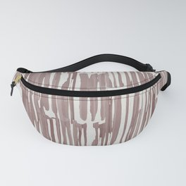 Simply Bamboo Brushstroke Red Earth on Lunar Gray Fanny Pack