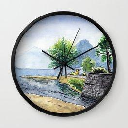 Fox in Lugano Wall Clock