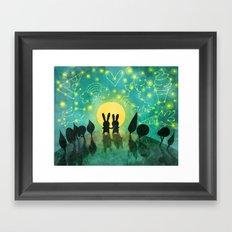 Bunny Constellation Gazing Framed Art Print