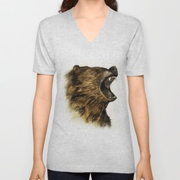 The Grizzly Unisex V-Neck
