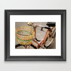 pink bicycle  - bicicletta rosa Framed Art Print