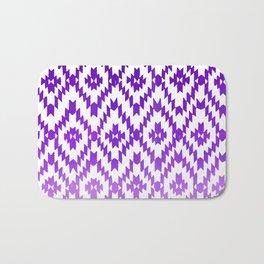 ombre purple ikat Bath Mat