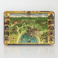hogwarts iPad Cases featuring Hogwarts Map by neutrone