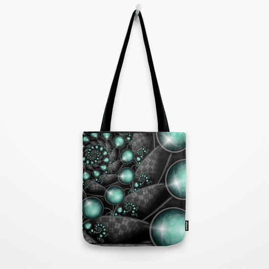 Turquoise Maze. Tote Bag