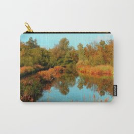 Autumn Colors Pond and Trees Carry-All Pouch