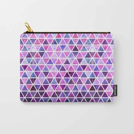 Berry Purples - Triangle Patchwork Pattern Carry-All Pouch