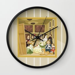 The Maids of Honour by Velázquez (Las Meninas)  Wall Clock