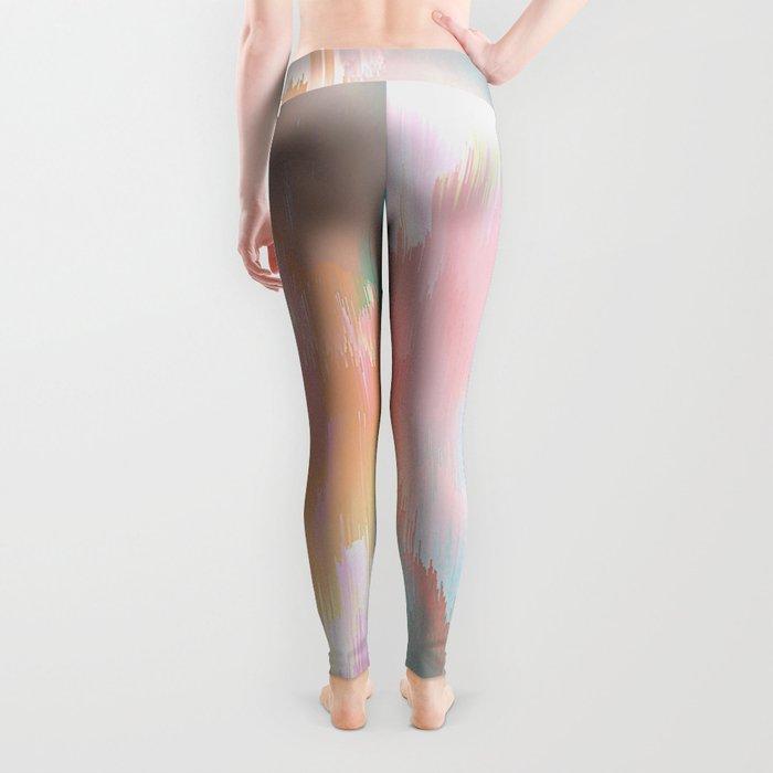 Candy Rainbow Glitch Fall #abstractart Leggings